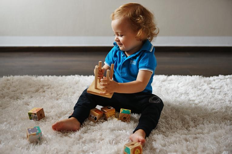 oblíbené hračky, kostky s obrázky Tchibo