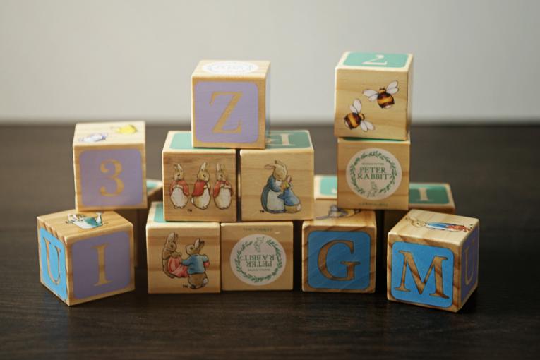 dřevěné kostky Peter Rabbit