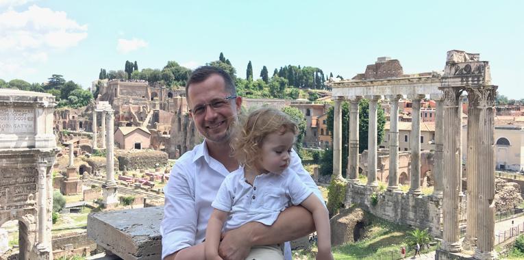 Forum Romanum, Řím, dovolená na lodi, PTTours, MSC Cruises, táta a syn