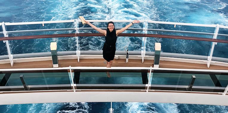 dovolená s dětmi, okružní plavba, výletní loď, MSC Seaview, PT Tours, MSC Cruises, zaoceánská loď, Středomoří, infinity bridge