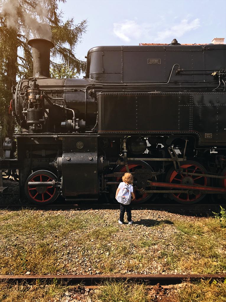 dovolená s dětmi, kam na výlet s dětmi, Kolešovka, parní lokomotiva, železnice