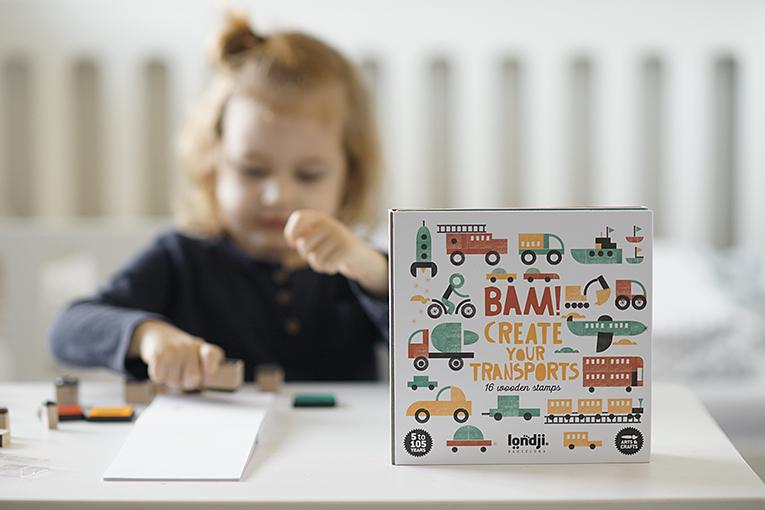 Bam kreativni sada s razitky, kreativní hračky, aktivity pro čtyřleté děti