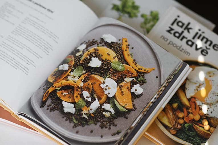 čočkový salát s pečenou dýní, kuchařka Jíme zdravě, zdravé vaření